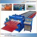 Stahl Doppeldecker Dachbahn Kaltumformmaschine / Doppelschicht Fliesen Rolling Formmaschine
