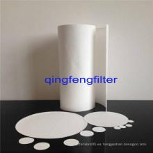 Membrana de filtro de PTFE hidrofóbica de capa de soporte de PP / mascota