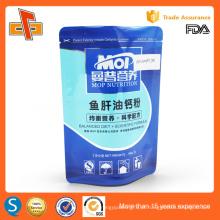 Estante laminado plástico saco selável de plástico para embalagens de pó de nutrição