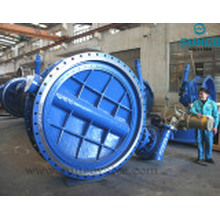 Double Flanged Connection Butterfly Valve