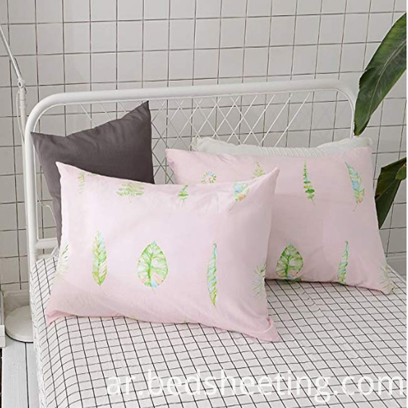Pink Cotton Print Pillowcase Slips