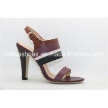 Elegante Ferse Open Toe Lady Sandale mit einfachem Design