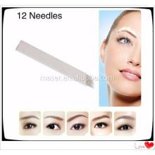Manuelle Augenbraue Tattoo Microblading Nadel, Sterilisierte Permanent Makeup Augenbraue Nadeln