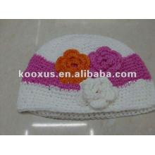 Las gafas de la galleta del bebé capsulan los casquillos del estiramiento del niño de la gorra del ganchillo de la gorrita tejida de los sombreros