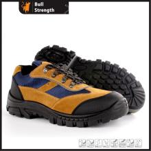 Sapato de segurança de couro camurça industrial com biqueira de aço (SN5459)