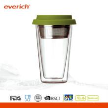 Copa de agua de vidrio reutilizable resistentes al calor promocional Venta al por mayor