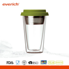 Copies d'eau en verre réutilisables résistantes à la chaleur promotionnelles en gros