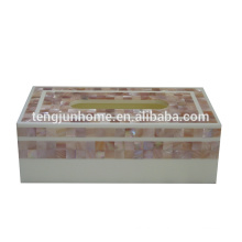 Coquille rose rectangle boîte à tissus boîte tissu facial à dubai