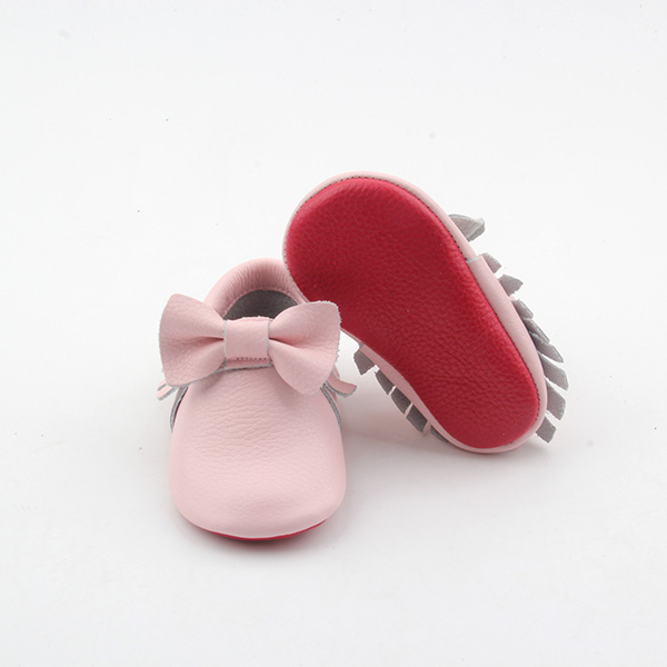Leather Red Baby Shoes
