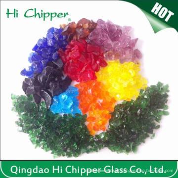 Decoração Chips de Vidro Colorido Esmagado