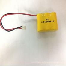 2018 bateria elétrica recarregável do ni-cd 2 / 3aa 300mah 3.6v