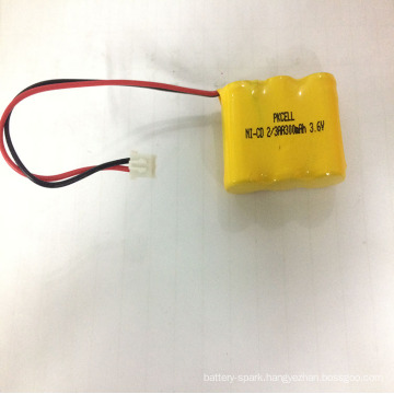 2018 ni-cd 2/3aa 300mah 3.6v rechargeable electric battery