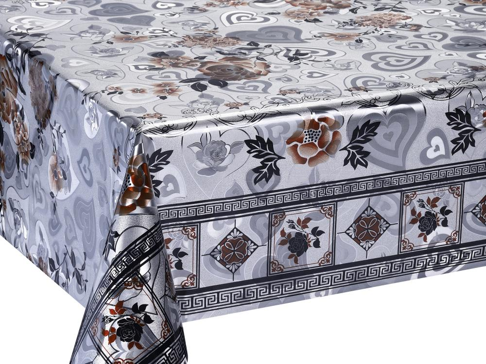Double Face Silver Emboss Printed Tablecloth