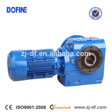 SA67 helical worm gear reducer hollow shaft mounted gearmotor gearbox