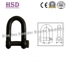 Fastener, Marine Rigging Hardware European D Type Trawling Shackle Square Head, Fishing Net Shackle, Anchor Shackle