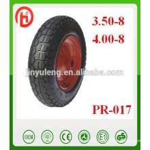 3.50-8 400-8 rubber wheel ,tire / pneumatic wheel ,inflatable wheel for wheelbarrow, wagon