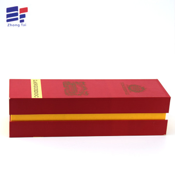 Reliable for China Tea Paper Box,Wine Paper Box,Tea Packaging Box Supplier Folding cardboard paper wine packaging box with lint export to United States Importers