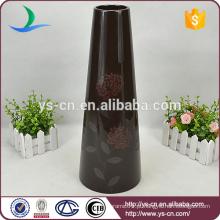 H40cm preto moderno vasos de cerâmica baratos de decoração