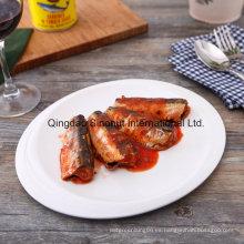 Sardina enlatada en salsa de tomate (125g, 155g, 425g, tapa normal o tapa de fácil apertura)