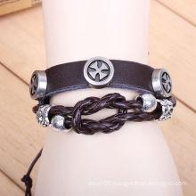 China Yiwu leather wrap bracelet KSQN-13