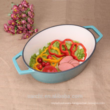 Ovel Stew Pot Enameled Cast Iron Casserole Dish