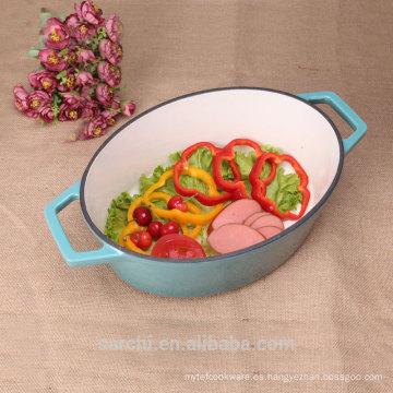 Nuevo utensilios de cocina personalizados de Houshold Oval Stew Casserole Dish