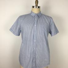мужские рубашки с маленькими карманами с принтом из полиэстера и хлопка