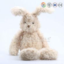 Diseño de dibujos animados juguetes de conejo de peluche conejo al por mayor y esponjoso