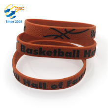 Basketball Bracelets Athletic wristband Debossed Coloring Hot sales
