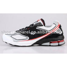 black mens buffering running shoes