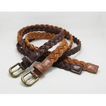 Lady′s Fashion Thin Weave Belt Ky6254