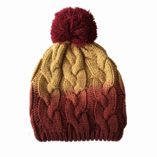 Unisex malha de cabo de impressão DIP Dye Inverno Warm Hat Beanie (HW149)