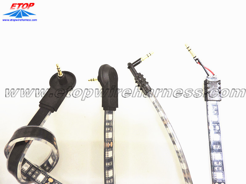 Molded cable for LED light car