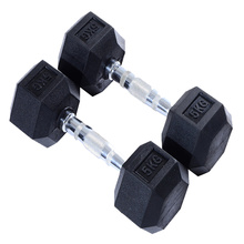 5KG Black Rubber Hex Dumbbell