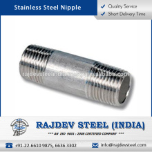 Corrosion Resistant Finish, Excellent Quality Stainless Steel Nipple Exporter