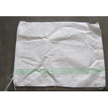 Drawstring Poly Sack with green edge