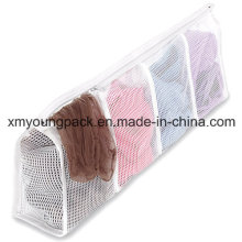 Fashion White Nylon Mesh Hosiery Laundry Wash Bag
