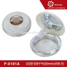 P-0181A Пластиковый макияж компактный порошок косметический футляр с затяжкой
