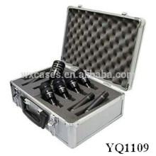 caja de aluminio fuerte y portátil con relleno interior de espuma