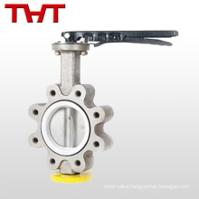 Light weight stainless lug butterfly valve style