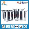 wholesale 8pcs stainless steel deep stock soup pot, saucepan cooking pan