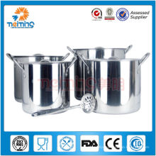 wholesale 8pcs stainless steel deep stock soup pot, saucepan cooking pan