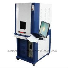 Máquina de la marca del laser de la fibra de 20W para el código de barras, marca de la placa de identificación, tipo estándar de Europa