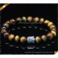 Venda Por Atacado homens bracelete de contas de pedra pulseira de prata pulseiras (CB0123)