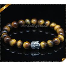 Vente en gros Hommes Bracelet Perles De Pierre Bracelet Bracelet Bouddha D'Argent (CB0123)