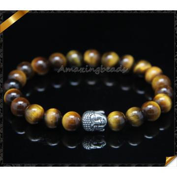 Venta al por mayor de pulseras de oro de la pulsera de los hombres de plata pulseras rebordeadas (CB0123)