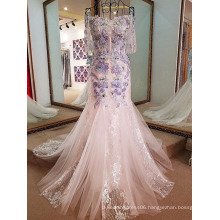 LS68667 Colored embroider flower western party wear designer net frock design women dresses sexy