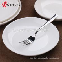 Varios tamaños 6 8 9 10 pulgadas placa de sopa de porcelana de cerámica blanca