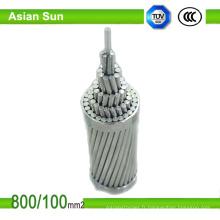 Fil d'ACSR renforcé par acier galvanisé plongé chaud de conducteur en aluminium de BS215 / DIN48204