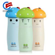 La belle tête de champignon de ventes chaudes Vacuum Water Bottle Kids Sports en acier inoxydable tasses d'eau